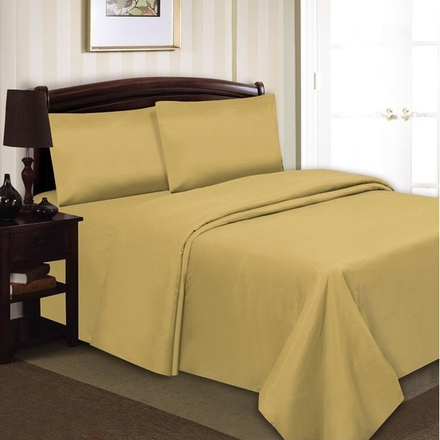 4-Piece Set: Simple Elegance Wrinkle-Free Sheets