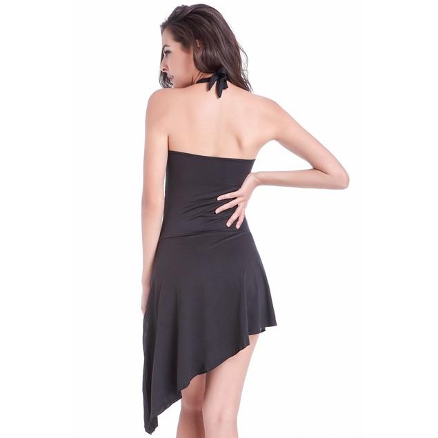 Convertible Black One-Piece Swimsuit