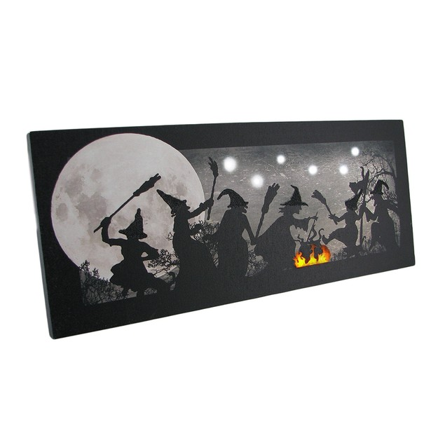 The Witches Dance Led Lighted Sparkling Canvas Prints
