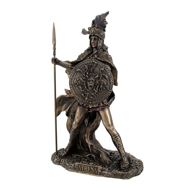 Bronzed Athena Goddess Of Wisdom And War Statue Statues