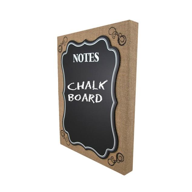 Burlap Framed Wall Mounted Chalkboard Memo Board Decorative Plaques