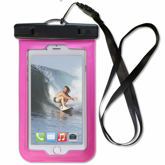 """2-Pack Touch ID Water-Proof Pouch Up To 5.5"""" Screen"""