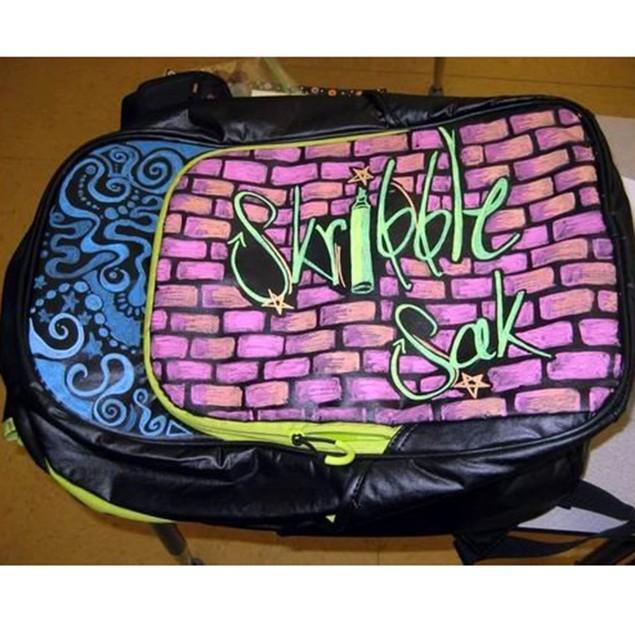 Skribble Sak Dry Erase Backpack with Neon Markers