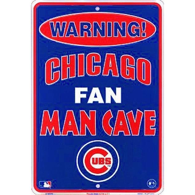Chicago Cubs MLB Fan Man Cave Parking Sign