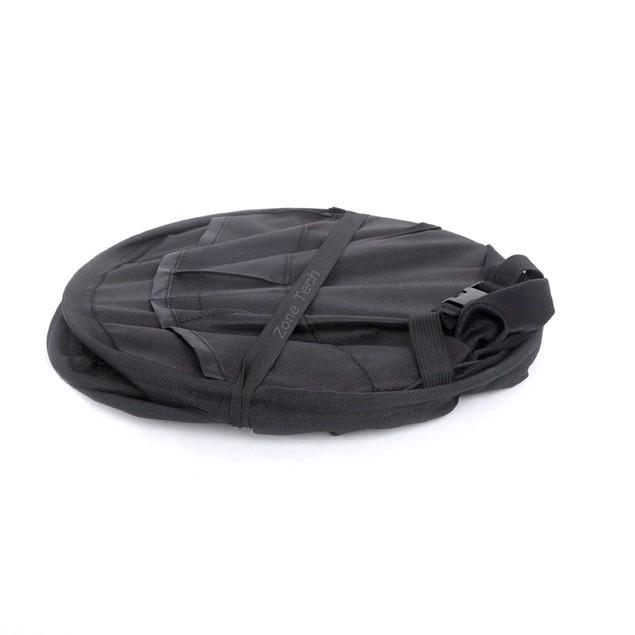 Zone Tech Compact Collapsible Interior Black Backseat Car Storage Organizer