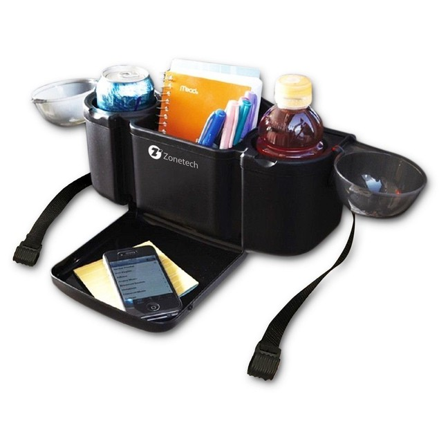 Zone Tech Style Car Back Seat Organizer Tray Food Desk Cup Drink Holder