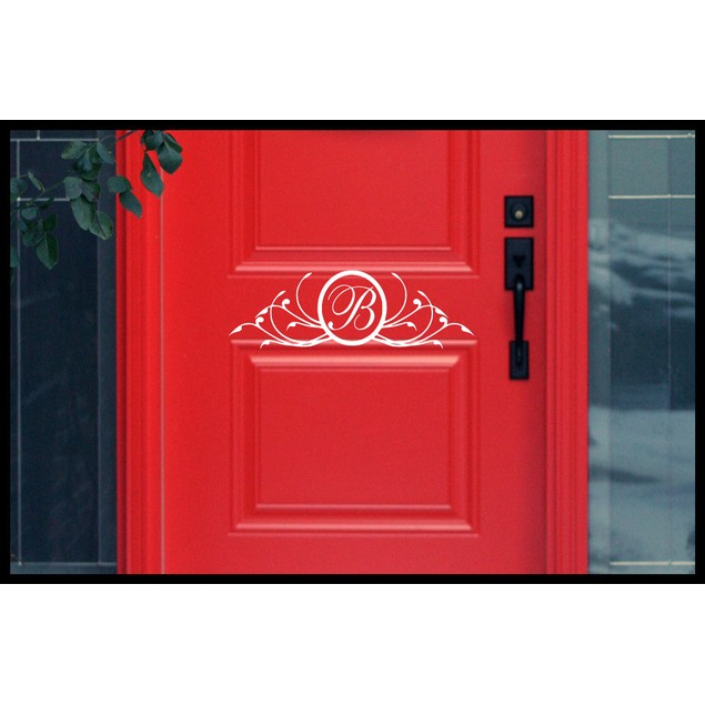 Personalized Initial Door Decal 6