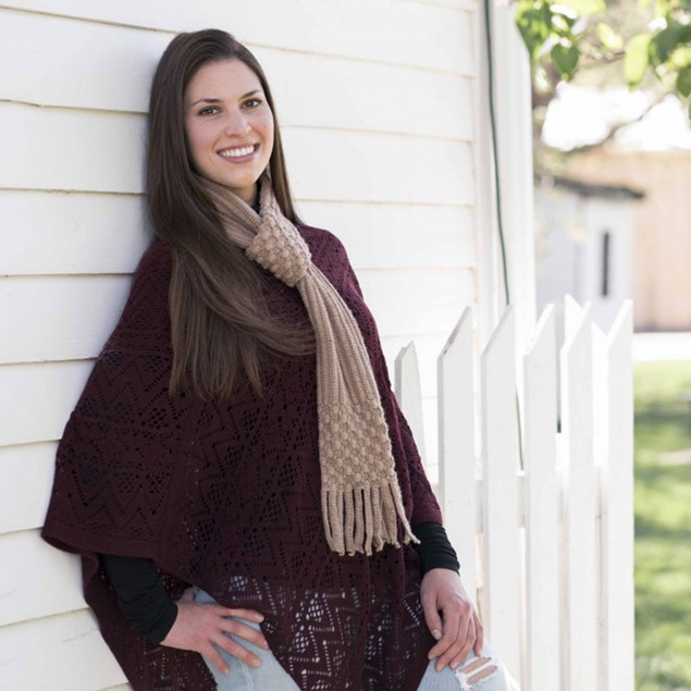 Britt's Knits Pull-through Scarf