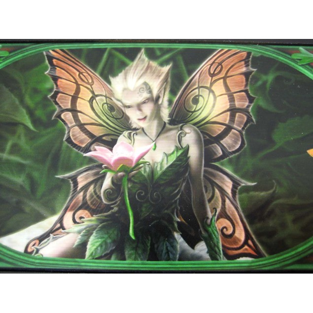 Anne Stokes Mushroom Fairy Large Tile Trinket Box Decorative Boxes