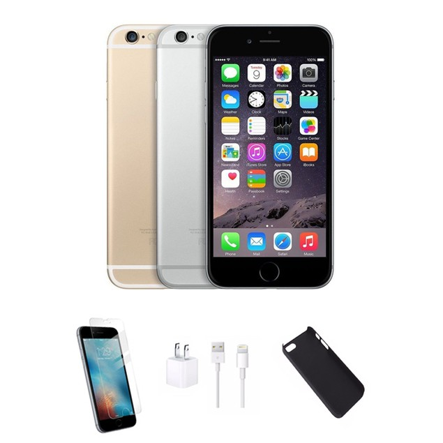 iPhone 6 Bundle (Case + Screen Protector + Charger) Verizon & GSM Unlocked