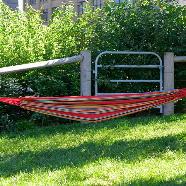 Cotton Canvas Multi-Colored Lounge Hammock