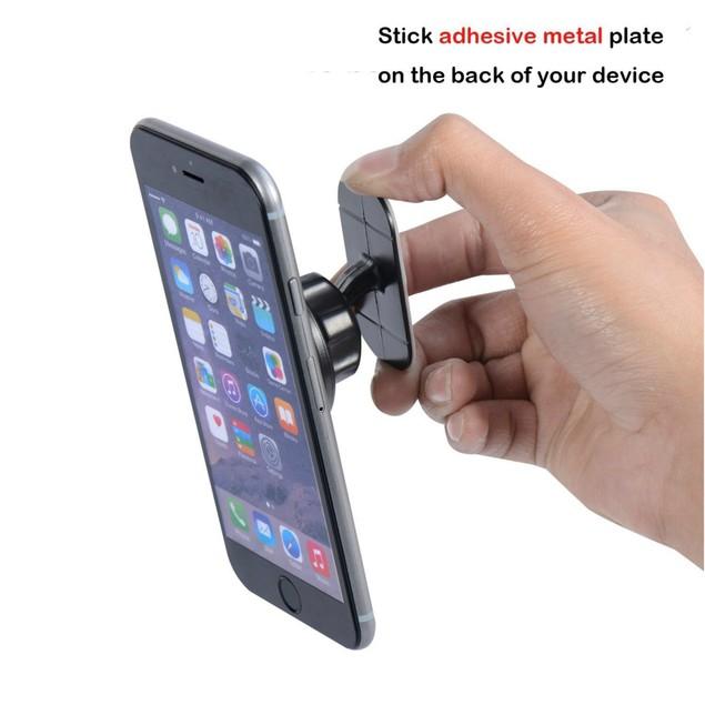 Encust Universal Stick On Dashboard Magnetic Car Mount Phone Holder
