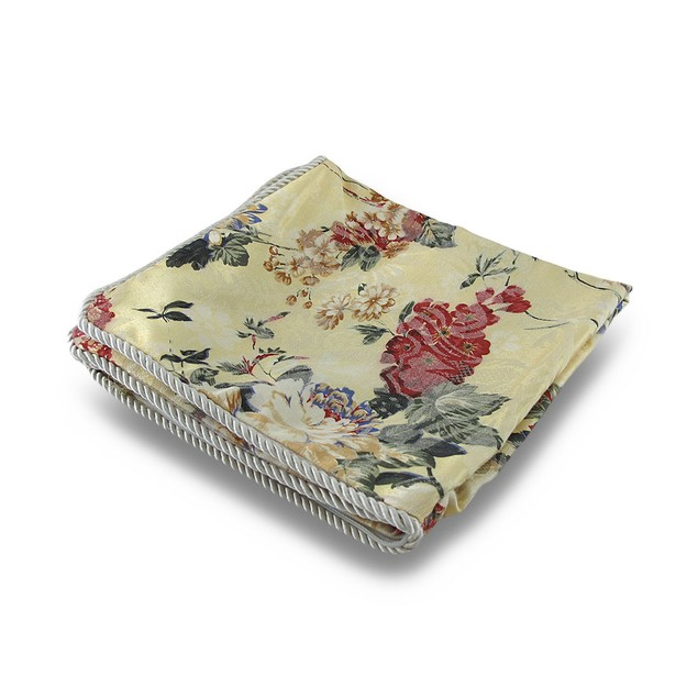 Floral Print Light Yellow Throw Pillow Cover Pillowcases