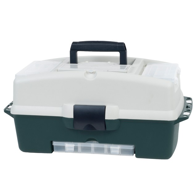 Wakeman Fishing 2-Tray Tackle Box 3 Removable Organizers - 18 inch
