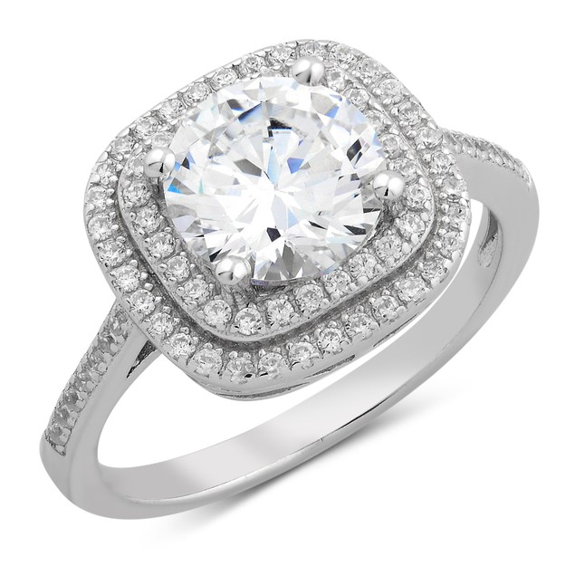 Princess Cut Mutli Row Micro Ring