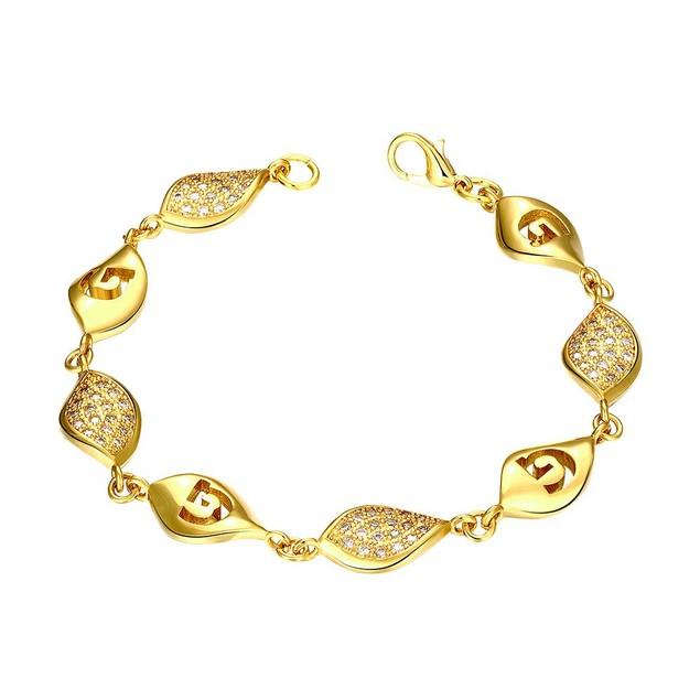 Gold Plated European Intertwined Matrix Bracelet