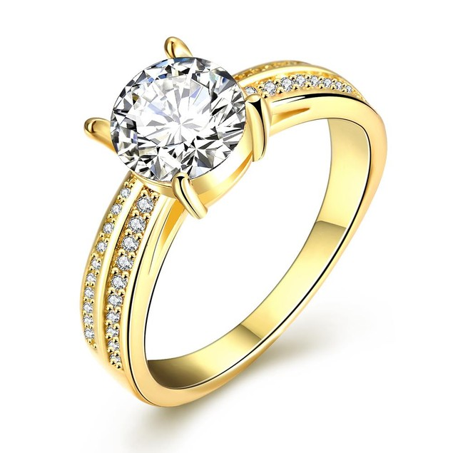 Gold Plated Madison Ave Inspired Ring