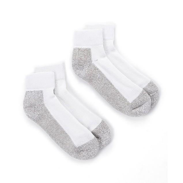 4 Pairs: Men's Double Cushion Quarter-Length Socks