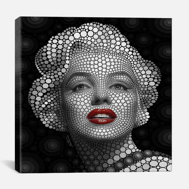 Marilyn Monroe by Ben Heine Canvas Print