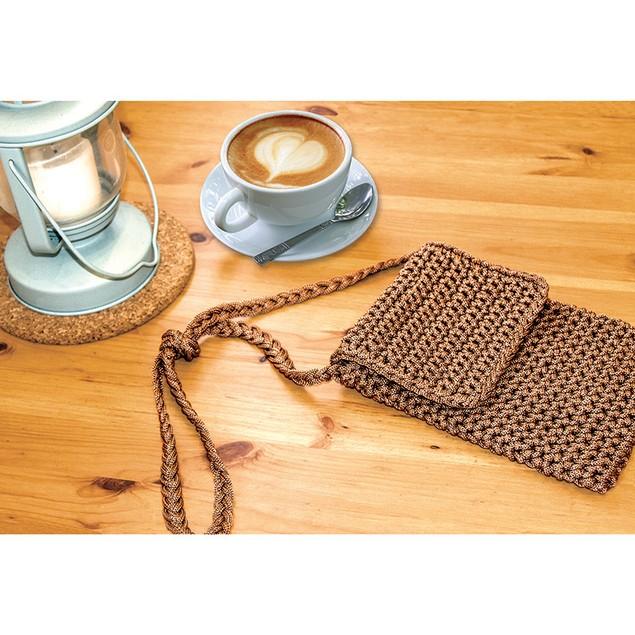 Cafe Crossbody Crochet Bag