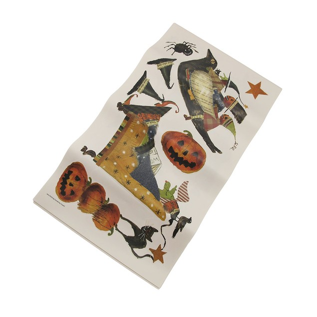 Roommates 23 Piece Vintage Witch Craft Halloween Wall Decor Stickers