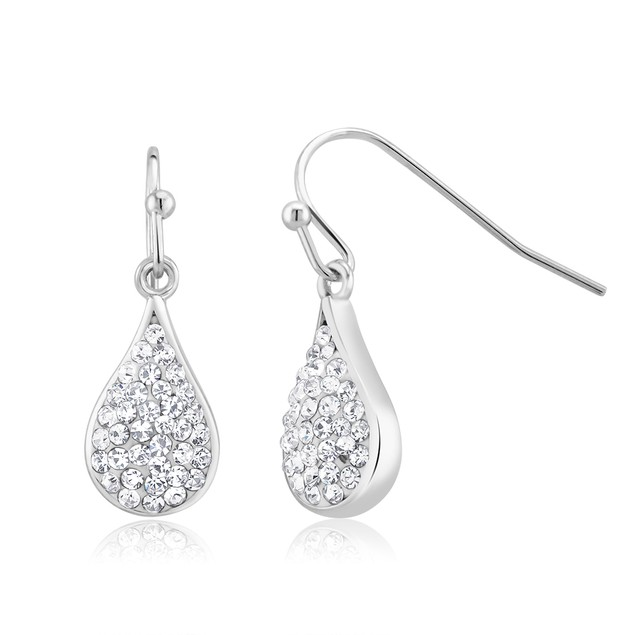 Gold Plated Crystal Teardrop Earrings