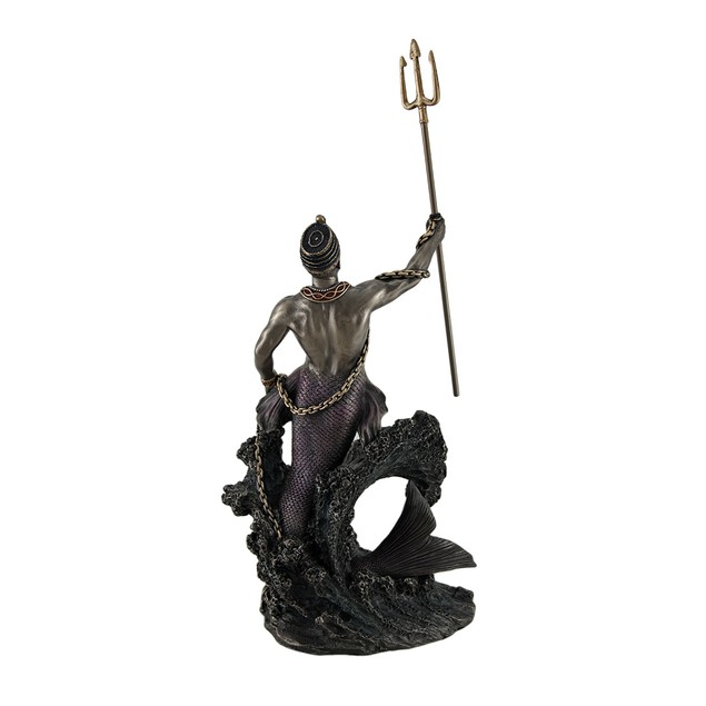 Olokun Owner Of The Deep Sea Bronze Finish Statue Statues