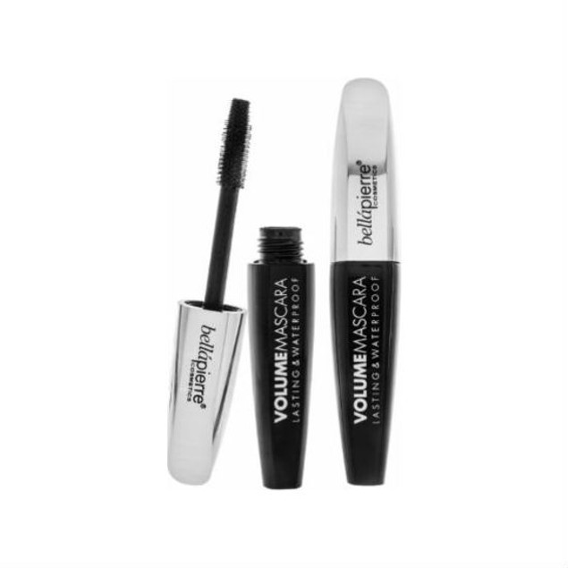 2-Pack BellaPierre Waterproof Volumizing Mascara, Black