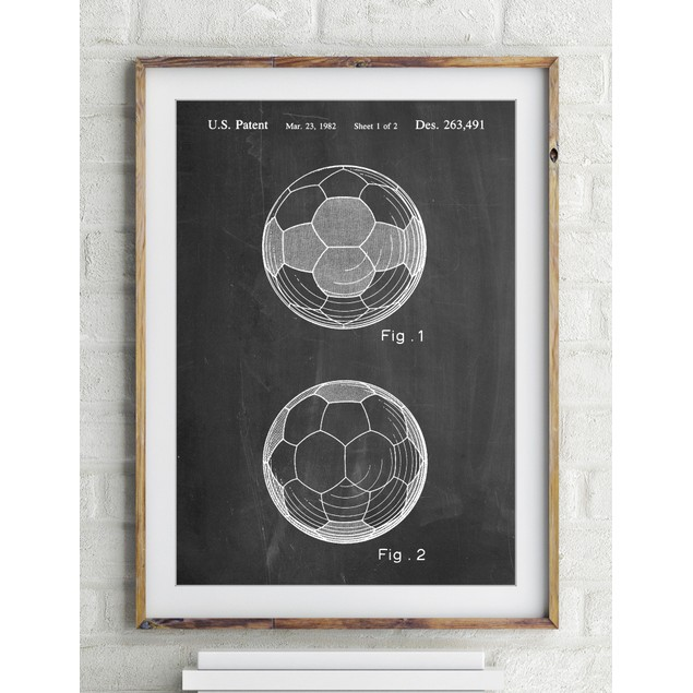 Leather Soccer Ball Patent Poster
