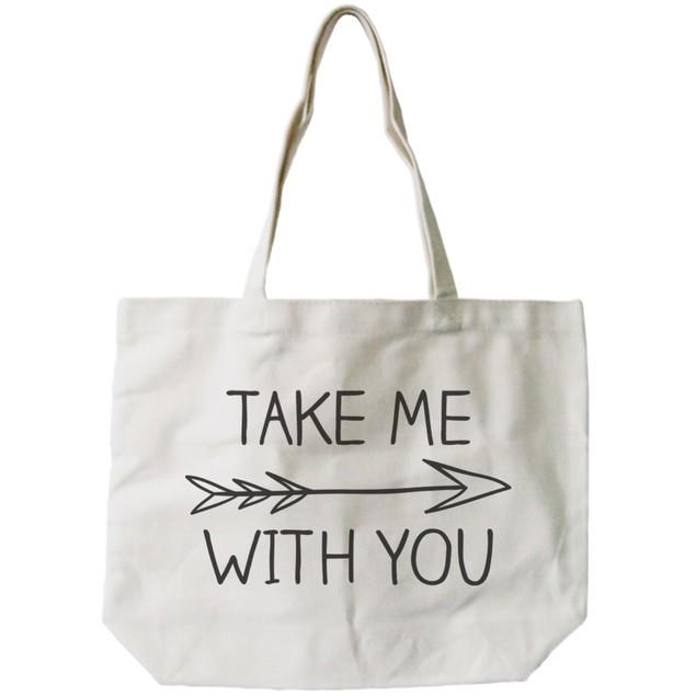 Take Me with You Arrow Canvas Bag