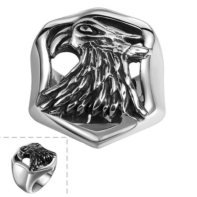 The American Eagle Stainless Steel Ring