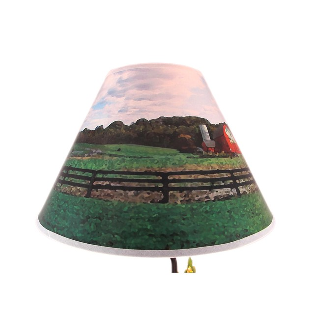 Green Farm Tractor 19 Inch Table Lamp Country Table Lamps
