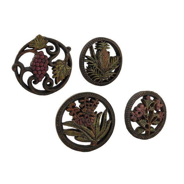 Fruits And Flowers Medley Decorative Wall Hanging Decorative Plaques