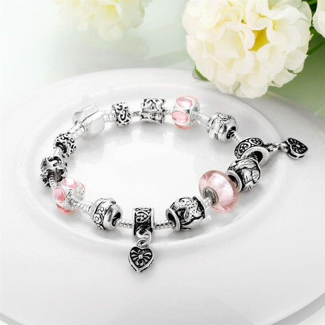Starfish and Hearts Designer Inspired Bracelet