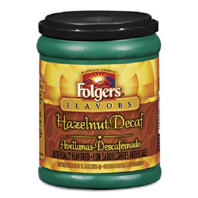 Folgers Flavors Hazelnut Decaf Ground Coffee