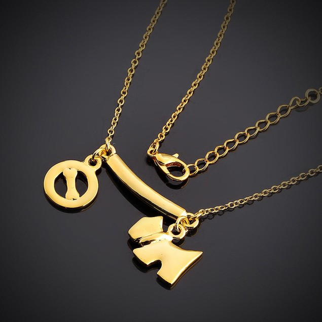 Gold Plated Puppy Treat Necklace