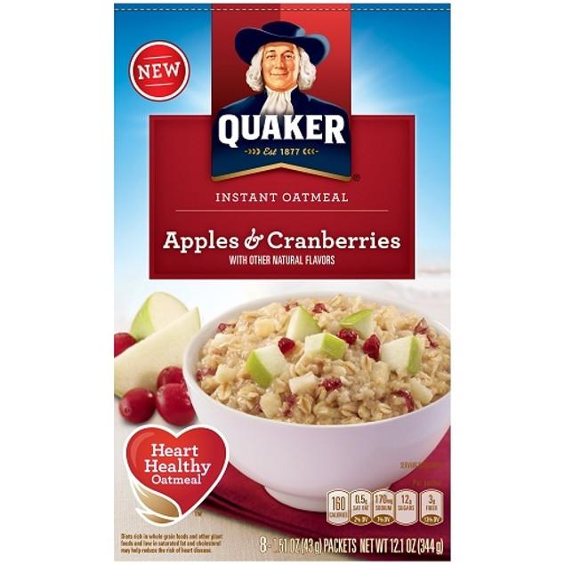 Quaker Apples & Cranberries Instant Oatmeal Hot Cereal