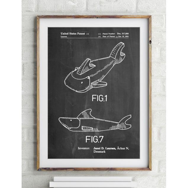 Lego Shark Patent Poster
