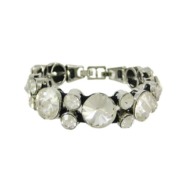 Large Rhinestone Encrusted Ladies Tennis Bracelet Womens Bracelets
