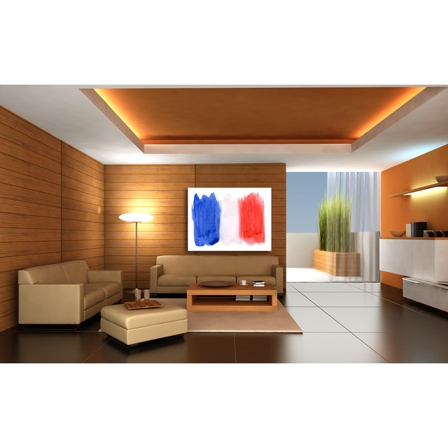 Watercolors France Flag Canvas Print