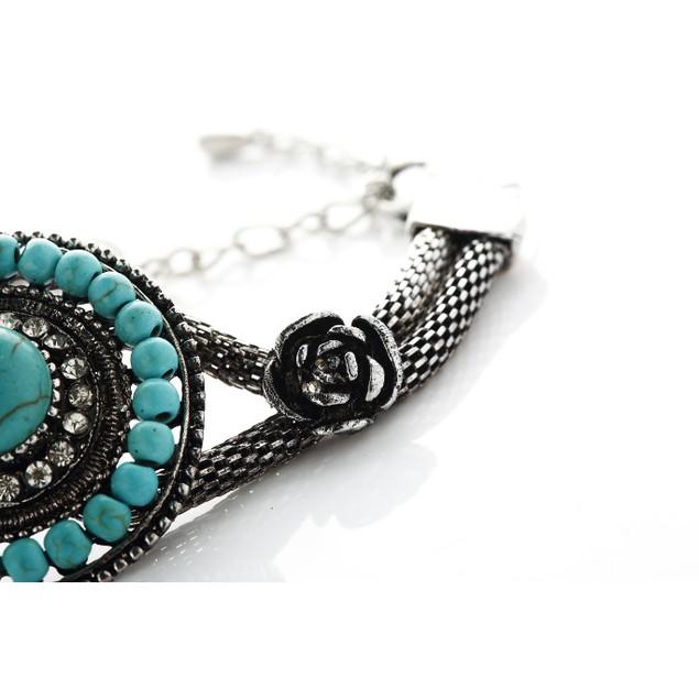 Antique Turquoise Beads Bracelet