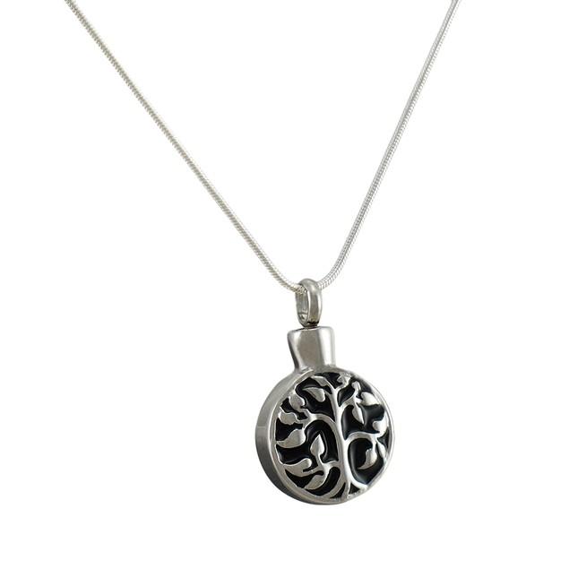 Stainless Steel Tree Of Life Keepsake Vial Pendant Womens Pendant Necklaces
