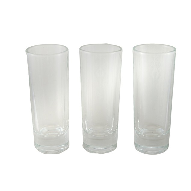 Set Of 3 Etched Art Glass Spirit Of Love Peace Shot Glasses