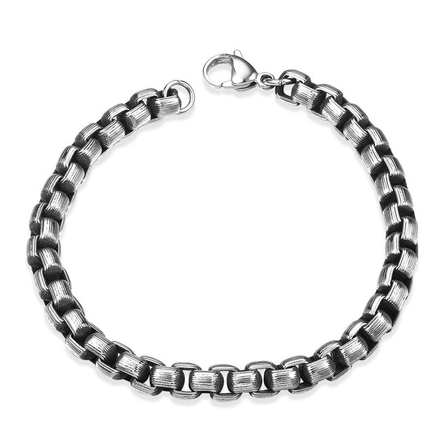Circular Angle Stainless Steel Bracelet