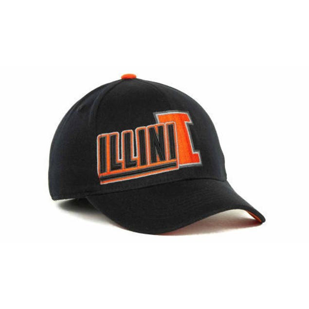 """Illinois Fighting Illini NCAA TOW """"Clutch"""" Stretch Fitted Hat"""