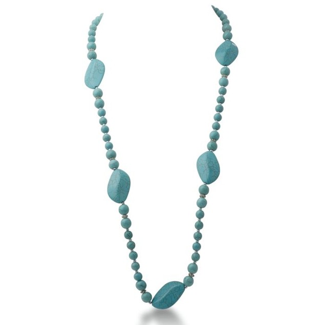Natural Turquoise Strand Necklace, 30 Inches
