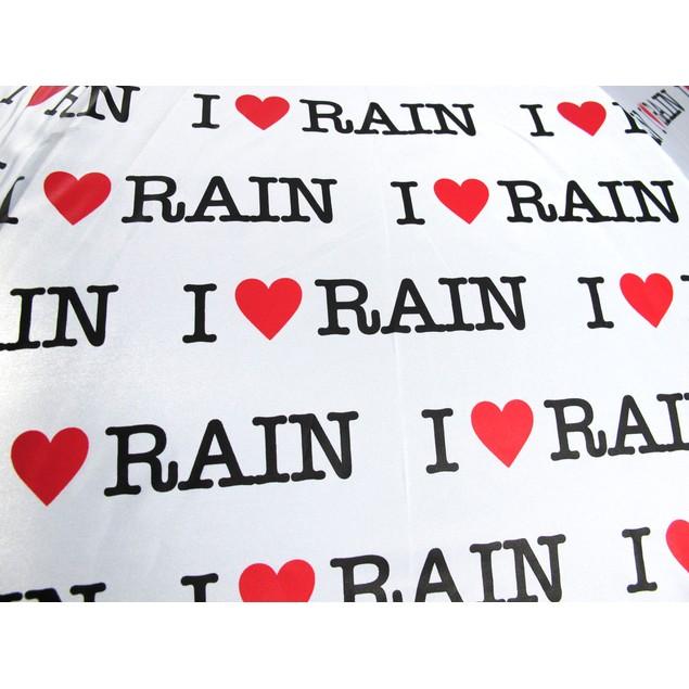 `I Love Rain` Auto Open Stick Umbrella Umbrellas