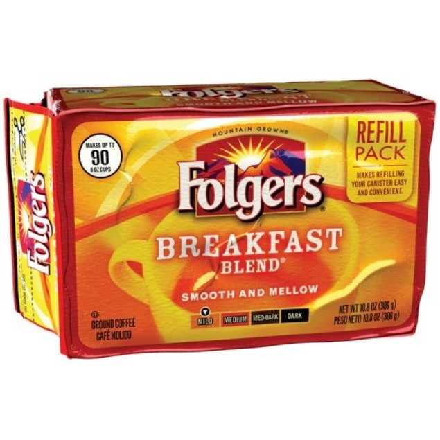Folgers Breakfast Blend Ground Coffee Refill Pack
