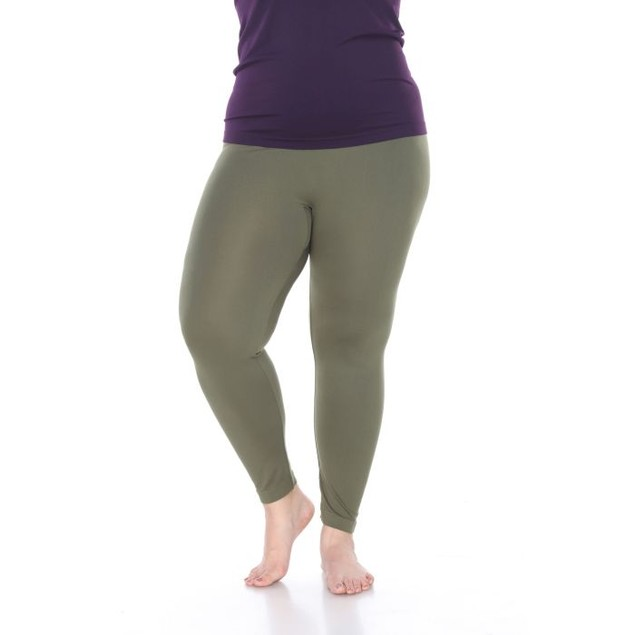 Women's Plus Size Super-Stretch Solid Leggings