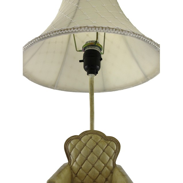 Vintage Look Parlor Chair Table Lamp W/ Fluted Table Lamps